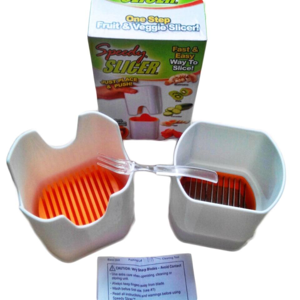 Transhome 1pcs Speedy Slicer Multifunction High Speedy Chopper Design Chopper Garlic Cutter Vegetable Fruit Twist Shredder