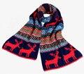 2014 nuevo estilo de otoño invierno para mujer de moda rojo azul marino azul espesor de la bufanda colores renos bufandas de lana del hilado del silenciador