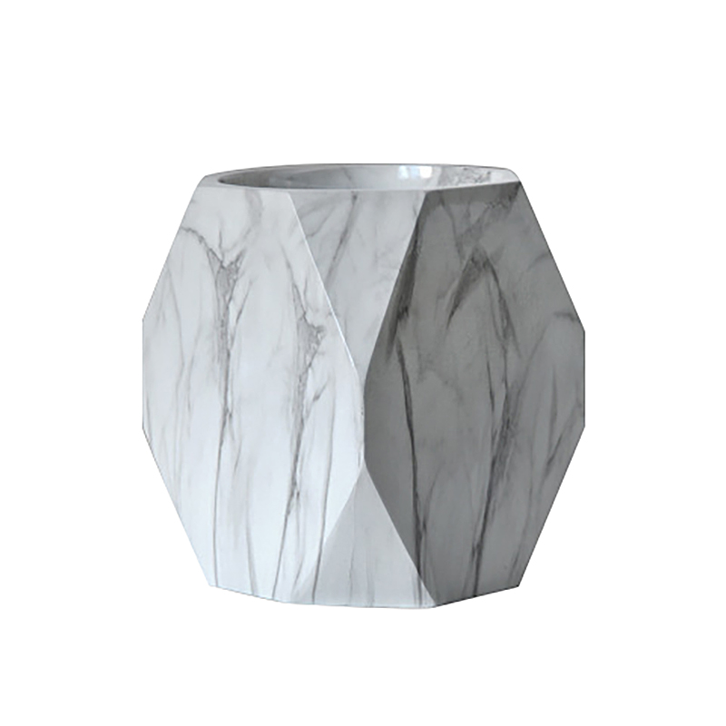 Nordic Style Marble Print Pen Holder Pencil Case Makeup Brush Storage Box Home Office Desk Ornaments Stationery Gifts