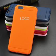 Com Logotipo Colorido Ultrafinos TPU Gel Suave de Volta Caso Capa Para O fundas iphone 6 6 s protetor caso para iphone 6 plus 6 s plus Capa