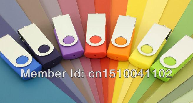 Colors USB Flash Drive rotating Swivel /U Disk/creative Pendrive/Memory Stick/Disk/pen drive/Gift S82 4GB 8GB 16GB 32GB LOGO#21
