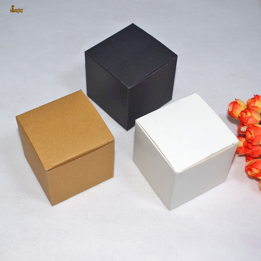2018 50pcs/lot 7x7x7cm Cute Small Kraft Paper Packaging Box Diy Lipstick Perfume Essential Oil Bottle Boxes For Valve Tubes Too