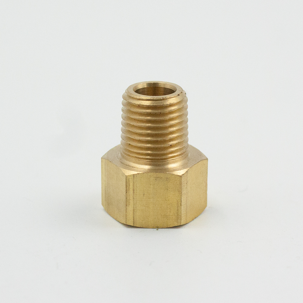Legines 2Pcs Brass Brake Line Inverted Flare Male Connector Adapter Fitting 1/8