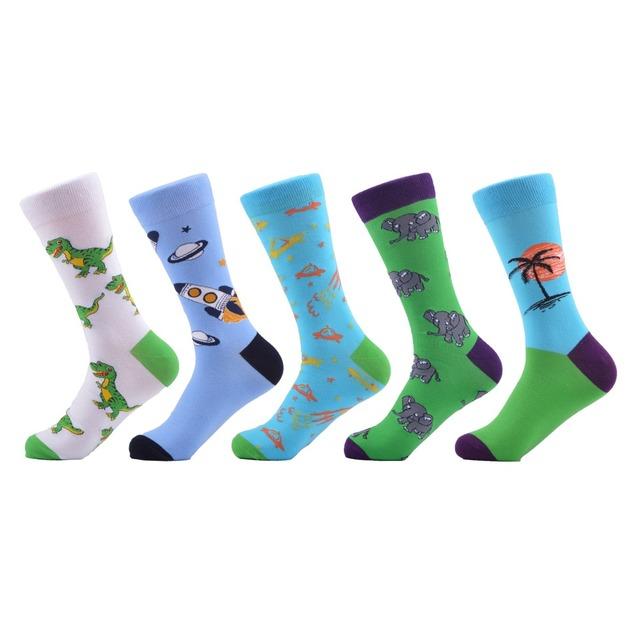 5 Pairs Printed socks