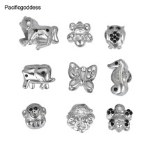 silver colorful beads 2018 hot sell bead charms(China)