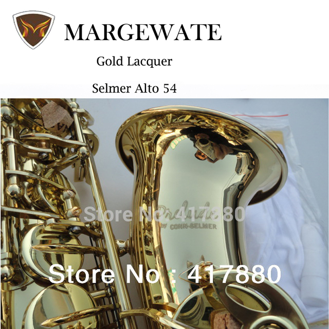 Cheap USA CONN- Selma E Flat Alto Saxophone Gold Lacquer Sax Alto with Saxophone Mouthpiece Gloves Case Cleaning Cloth