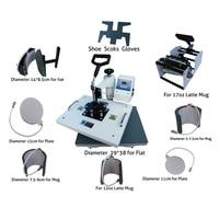 Multifunctional digital 9 in 1 Heat Press Machine for print T shirt/Mug/Cup/Plate/Hat/Flat/Shoes/Sock/ Glove heat press machine