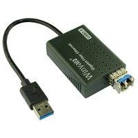 USB 3.0 до 1000 Мбит/с gigabit ethernet lan Волокно оптический сетевой карты Realtek rtl8153 с SFP оптический модуль черный, бесплатная доставка