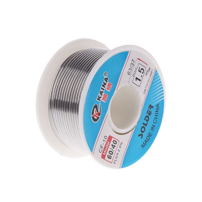 High Quality 0.5mm 100g <font><b>60</b></font>/<font><b>40</b></font> Rosin Core Pb <font><b>Solder</b></font> Wire Welding Soldering Flow 2.0% Iron wire in Coil image