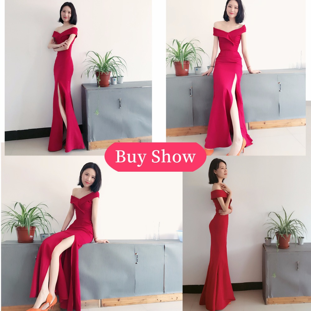 Mermaid Designer Evening Gowns Side Split Red Prom Dress Sexy Long Evening  Dresses V Neck Imported Party Vestidos De Gala GQ827-in Evening Dresses  from ... 92b0519e2917