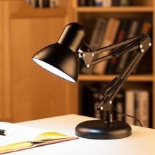 купить Iron Art Replaceable Bulb E27 Led Bulb Lamps Flexible Table Lamp Swing Arm Clamp Mount Lamp Office Studio Home Table Desk Light дешево