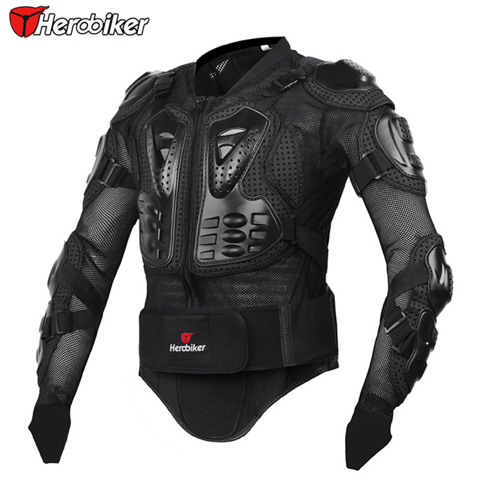 Prix pour HEROBIKER Professionnel Protection Du Corps De Moto Motocross Racing Full Body Armor Spine Poitrine Équipement De Protection Veste M-XXXL