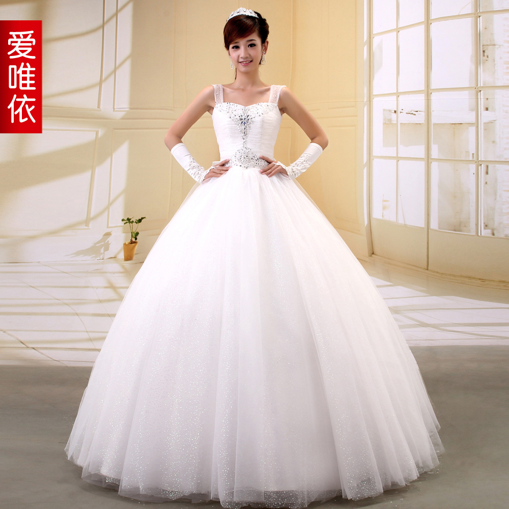 11842 Wedding Dress Winter Love 2012 Rhinestone Wedding Dress Formal Dress Slim Waist Vintage Sweet Princess Wedding Dress En Vestidos De Novia De