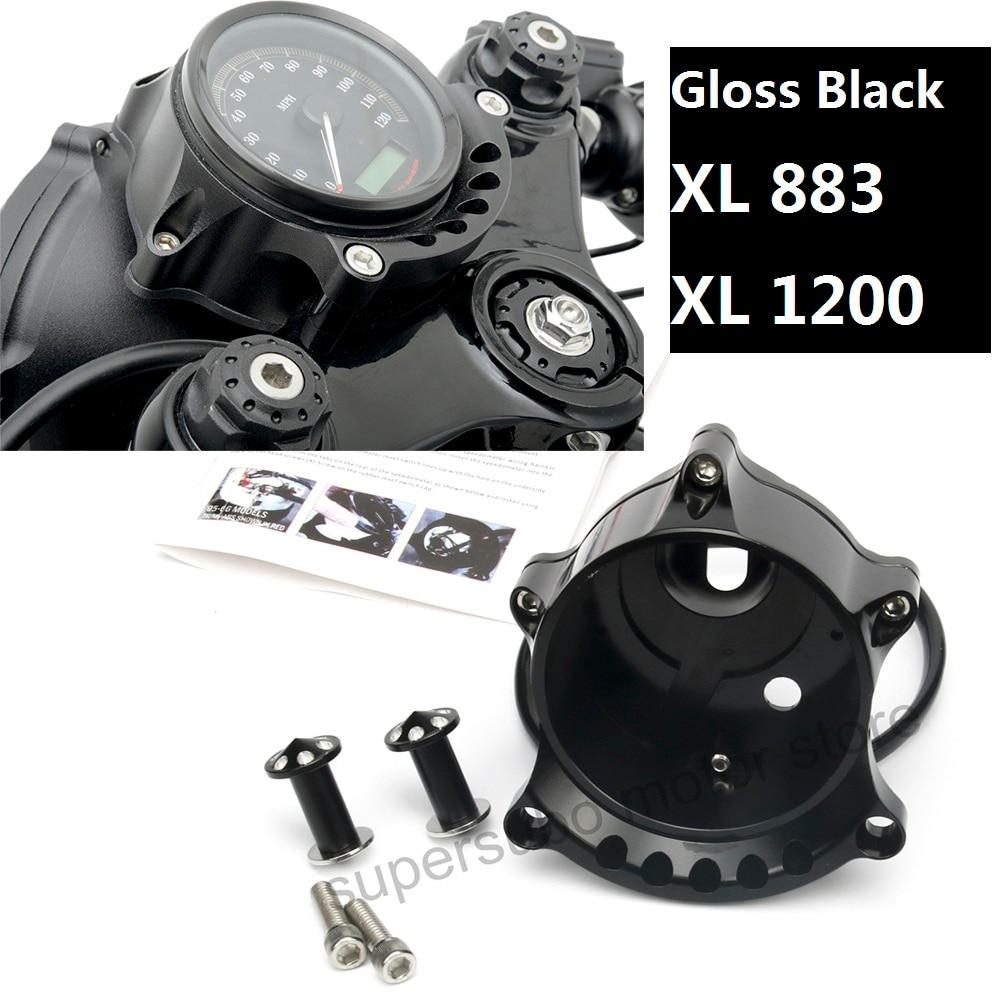 Мотоцикл черный кафе Манометр и крепления фар для Harley Спортстер XL883 утюг 1200р Nightster родстер