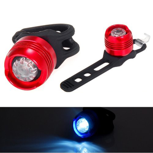 Good Deal New Aluminum White Light Bicycle Light Waterproof Design - Red