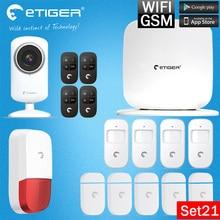 Chuangkesafe eTiger WiFi /GSM Newest Intruder Burglar gsm sms alarm alarm system For Home Security+WIFI Camera