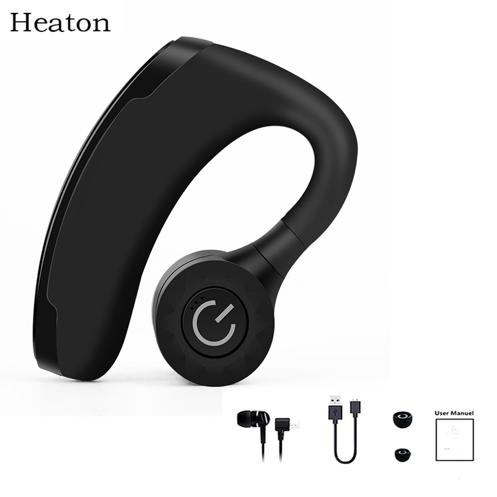 Heaton Wireless Bluetooth Earphone Headsets Office Handsfree Bluetooth Headset Headphones with Mic Voice Control Music Earbud bq 618 wireless bluetooth v4 1 edr headset support handsfree earphone with intelligent voice navigation for cellphones tablet