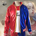 Hot Movie Suicide Squad Harley Quinn Cosplay Costume Clothing Women Batman Arkham Asylum City Joker Halloween Anime top Jacket