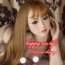 Intelligent silicone sex,145cm realistic silicone mannequins head for lifelike sex doll, real dolls head with oral sex