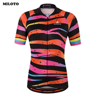 MILOTO Bicycle Cycling Jersey Women Top Short Sleeve Mtb Bike Jersey Ropa Ciclismo Maillot Sport Clothes