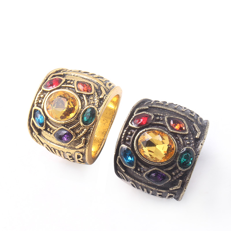2 Colors Avengers Infinity War Thanos Ring Infinity Gauntlet Power Stones Rings for Women Men Jewelry Gift in Rings from Jewelry Accessories