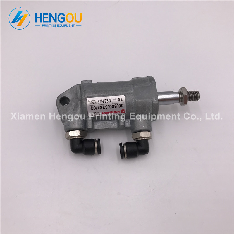 1 Piece Heidelberg machine pneumatic cylinder D25 H25 00.580.3387 offset printing machine parts yamaha pneumatic cl 16mm feeder kw1 m3200 10x feeder for smt chip mounter pick and place machine spare parts