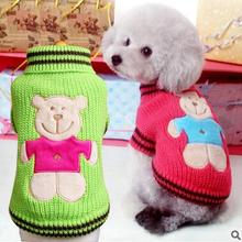 Fashion Various Colors Pet Dog Clothes Sweatshirt Hoodie Winter Warm Dogs Knitted Sweater Hoodie Cute Coat Puppy XXS S,M,L