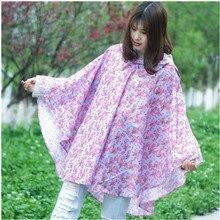 Fashion Rain Cover waterproof Raincoat for adult Travel leisure printing Hooded poncho cloak Rain Gear Accessories Supplies