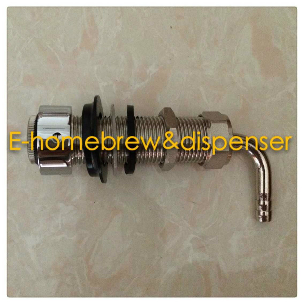 Free shiping 80mm length Beer Tap Kegerator Faucet Draft Shank with ...