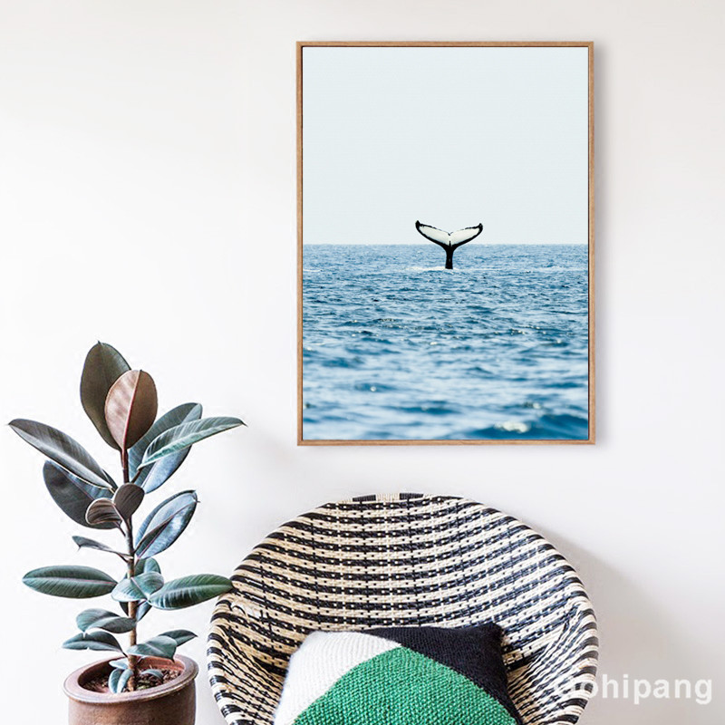 Gohipang-Nordic-Landscape-Decoration-Whale-Giraffe-Phrase-Canvas-Painting-Posters-And-Prints-Living-Room-Wall-Art (2)