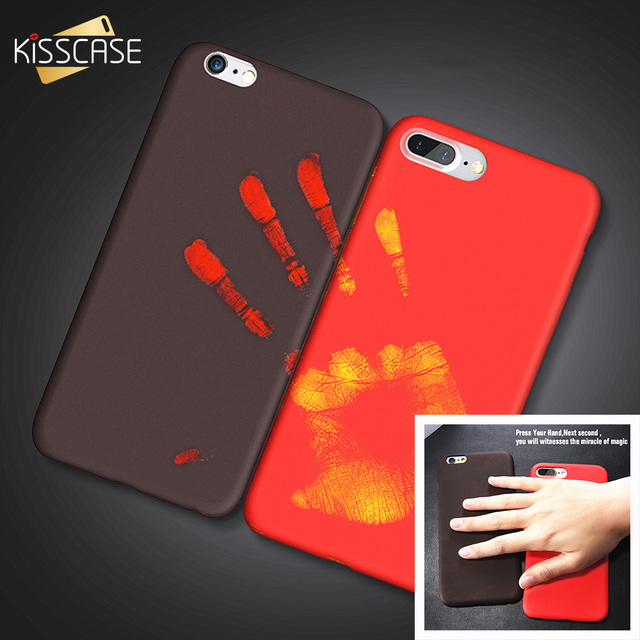 newest 44026 3a3b2 US $4.99 |KISSCASE For iPhone X Case Thermal Sensor Color Changing Phone  Case For iPhone 7 8 Plus Slim Thermal Induction Capa For iPhone 6-in Fitted  ...