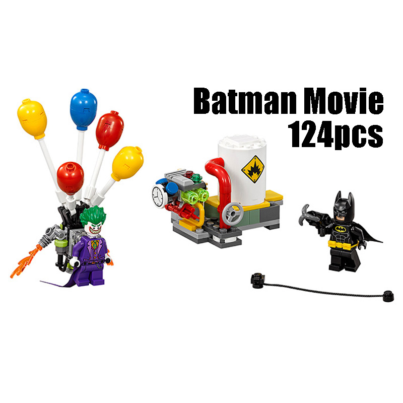 Compatible with Lego batman 70900 Lepin 07048 super hero movie blocks The Joker Balloon Escape toys for children building blocks 8pcs lot movie super hero 2 avenger aochuang era kid baby toy figure building blocks sets model toys compatible with lego