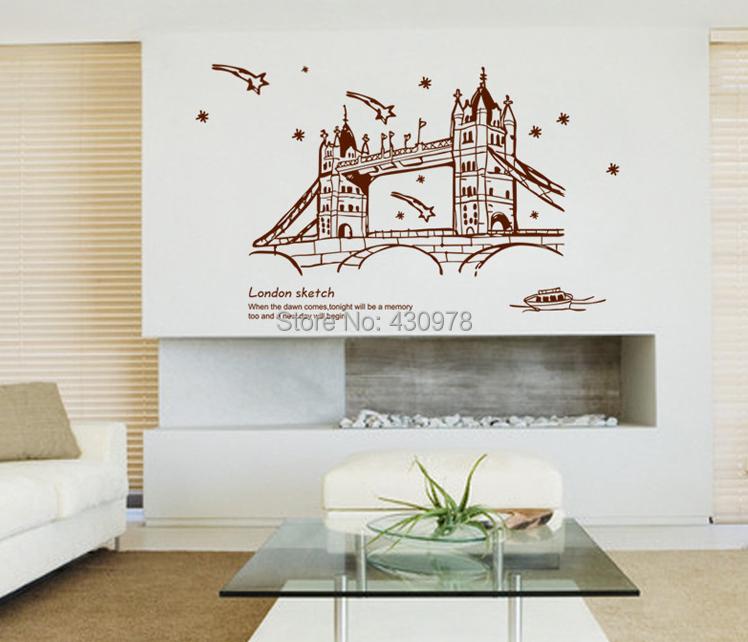 al por mayor nueva extrable pegatinas de pared de fondo saln dormitorio decoracin de la pared