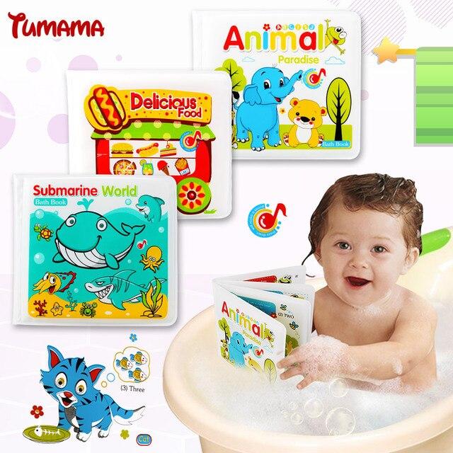 Tumama Waterproof Kid Playing Bath Toys Baby Bath Book Learning ...
