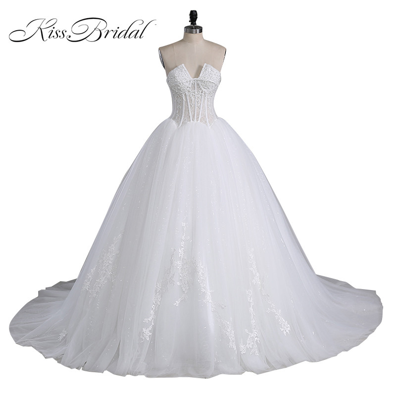 Customized new cheap princess wedding dress 2016 long for Cheap long sleeved wedding dresses