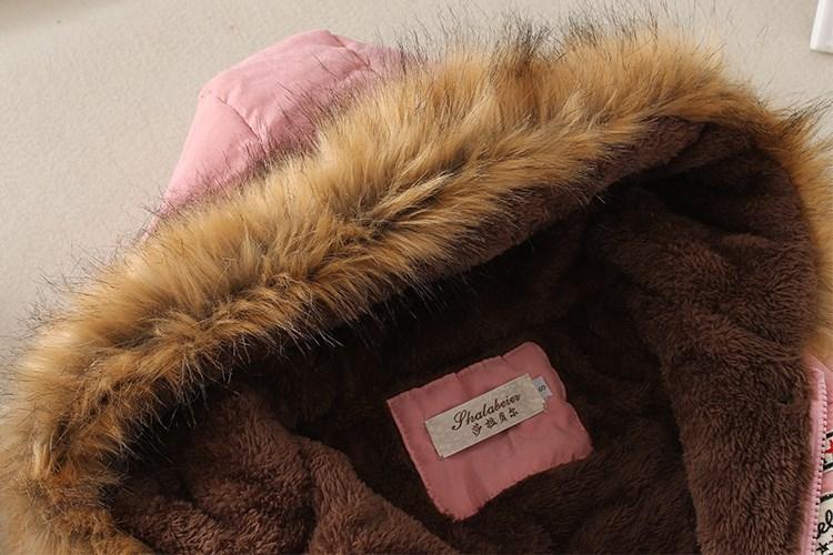 19 Winter New Women's Hooded Fur Collar Waist And Velvet Thick Warm Long Cotton Coat Jacket Coat 19