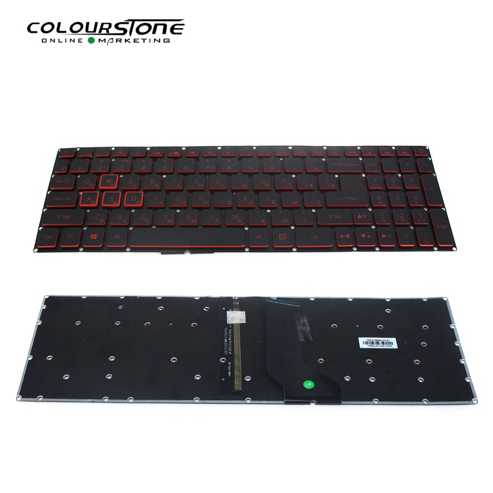 Original New AN515-51 Russian Laptop Keyboard For Acer Nitro 5 AN515 AN515-52 AN515-53 Notebook Keyboard RU Black With Backlit(China)