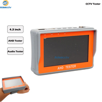 New CCTV 1080P 720P AHD Camera Tester 4.3 inch LCD Analog Video Test 12V/5V Power Output Cable AHD CCTV Tester AR CT401