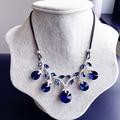 Nova Moda Mulher Cor de Resina Colar Curto Colar Colar de Cristal Grande Moda de Todos Os Jogo Simples Camisola Cadeia Decorativo