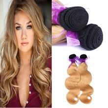 Brazilian Virgin Hair Body Wave 2 Bundles Brazilian Human Ombre Hair Weave Unprocessed Brazilian Ombre Virgin Hair Extension
