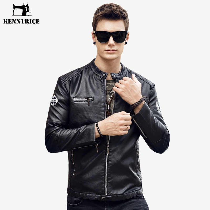 New Top Quality Leather Jacket Mens Leather Jacket And Coat Smart Casual Jacket Jaqueta De Couro