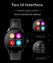 Metal Smart Watch Fitness tracker Heart Rate Monitor Compatible Android IOS Phone Remote Camera Round super slim Waterproof K88H colmi k88h bluetooth smart watch classic health metal smartwatch heart rate monitor for android ios phone remote camera rrim