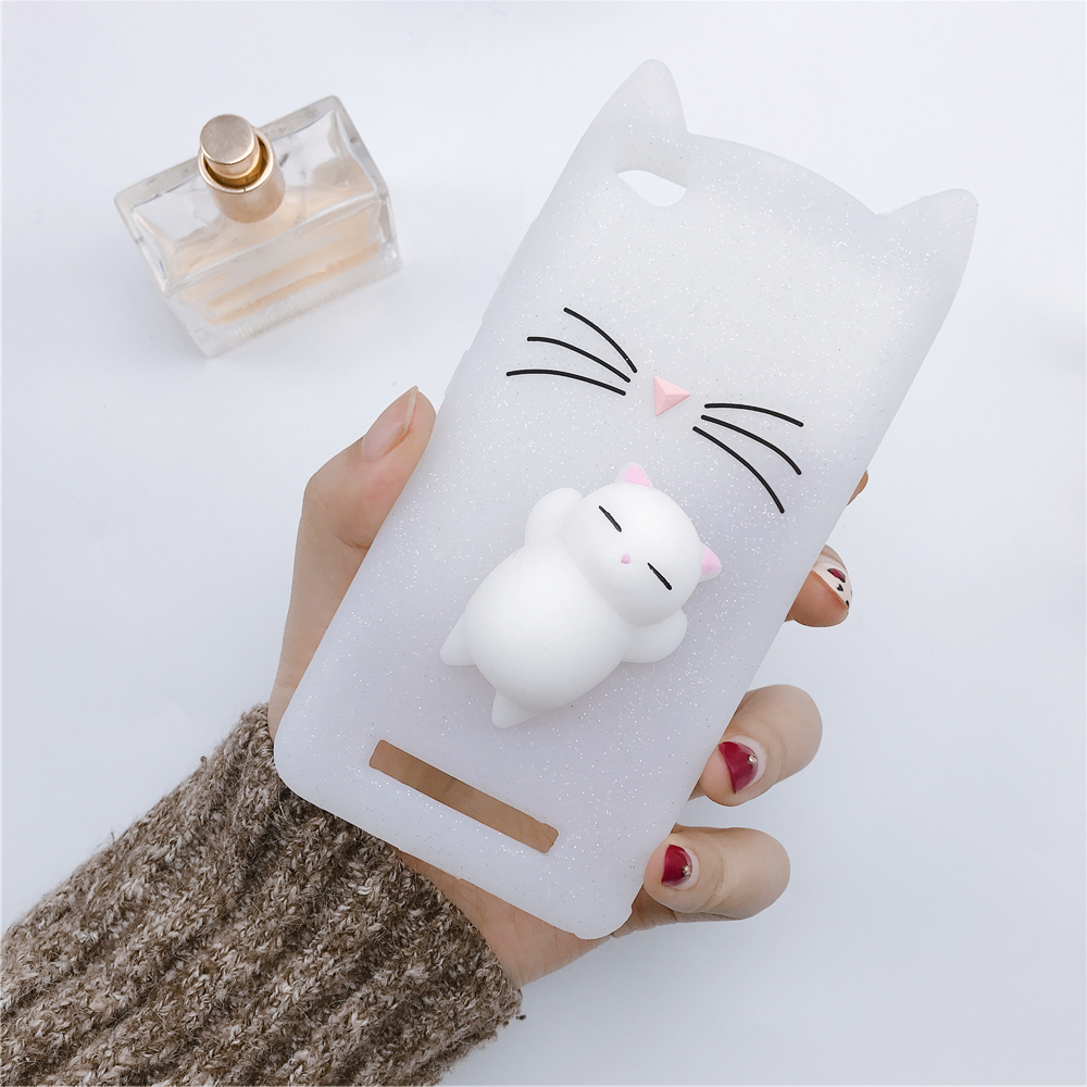 3D Japan Cute Cartoon Beard Cat Squishy Phone Cases For samsung A710 S9  S9Plus Cover Silicone Cases Coque