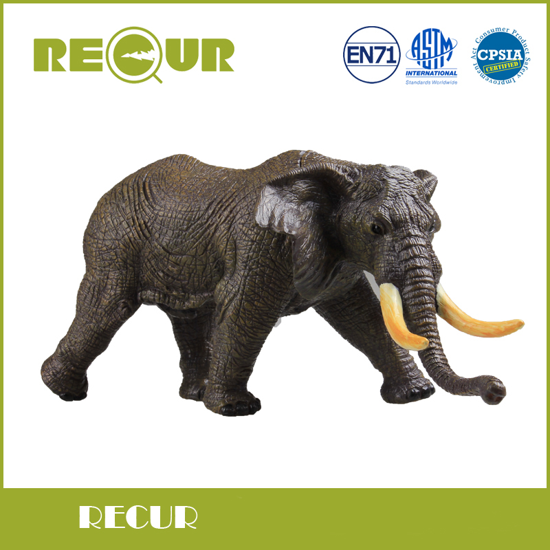 African Elephant Toys For Boys : Recur high quality african elephant simulation model hand