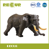 Recur High Quality African Elephant Simulation Model Hand Painted Soft PVC Action Figure Wild Animal Toy Collection Gift For Boy