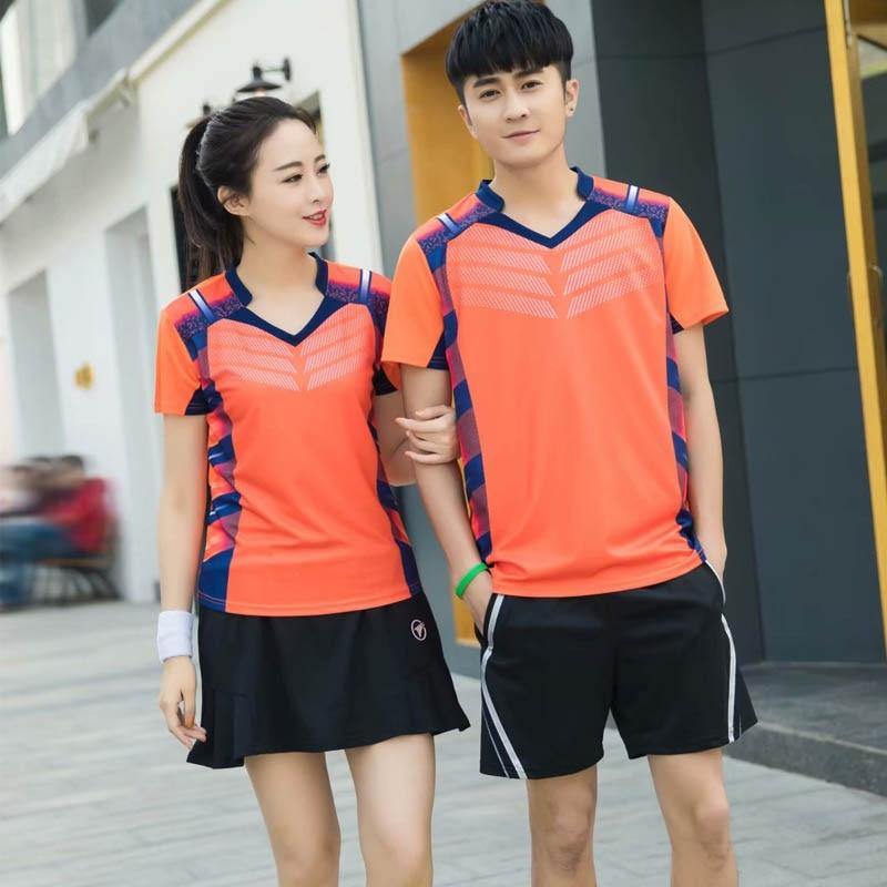 Besorgt Sport Marke Quick Dry Atmungsaktiv Badminton Shirt, Frauen Männer Tischtennis Team Laufen Fitness Übung Training Polo T Shirts