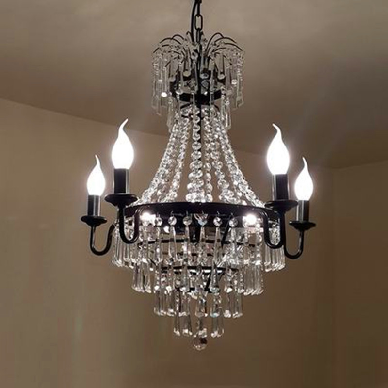 Modern Crystal Chandelier light Living Room Decoration crystal Pendants and Chandeliers Home Lighting Indoor Lamp E14 led candle