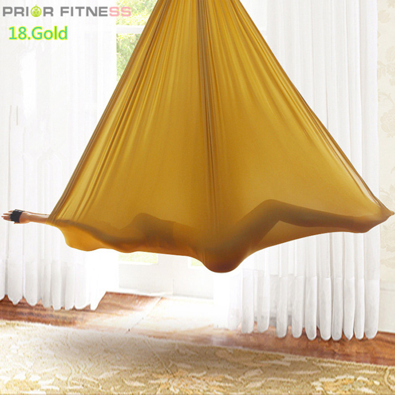 Prior Fitness Aerial Yoga Swing Hammock Fabric for Improved Yoga Inversions Flexibility Core Strength 5Mx2 8M
