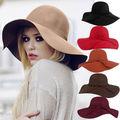 Kentucky Derby Sombreros Calientes de La Venta Sombreros de Sun Mujeres La Moda de Nueva señora de Ala Ancha De Lana de Fieltro Bowler Hat Fedora Floppy Cloche playa