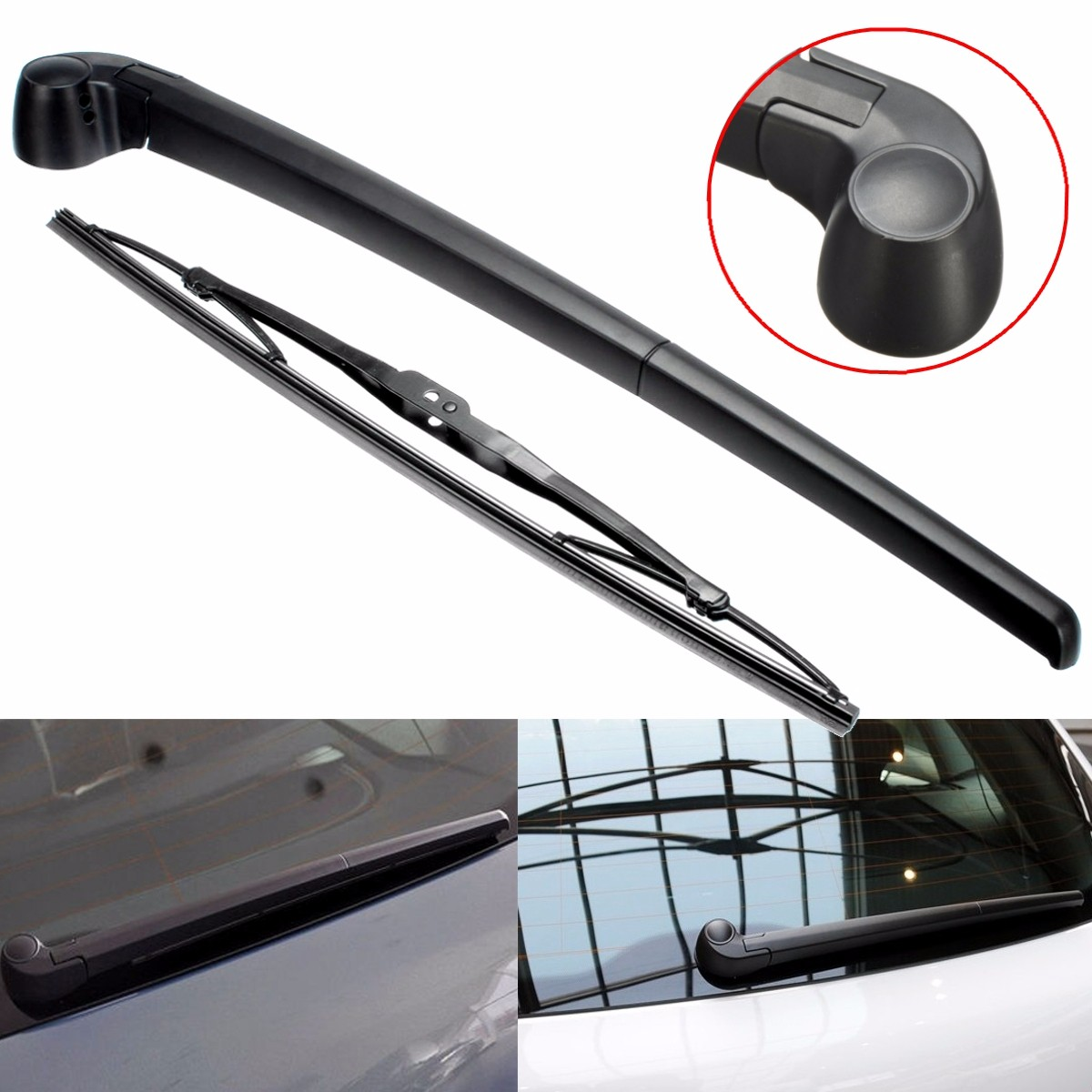 2pcs set rear windshield window plastic wiper arm blade for audi a3 china
